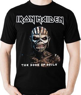 Camiseta Iron Maiden Book Of Souls Camisa (banda Rock) Blusa