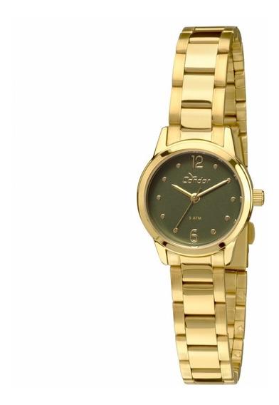 Relógio Condor Feminino Mini Dourado - Co2035knd/4v