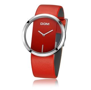 Relógio Moderno Pulseira De Couro Design Luxuoso E Único Ver