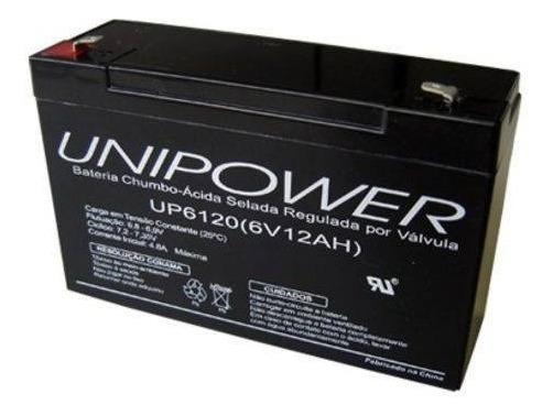 Bateria Unipower 6v 12ah Moto , Brinquedo, Carrinho Elétrico