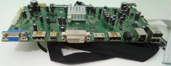 Placa De Sinal Monitor Dell Ultrasharp U2913wm Com Cabos