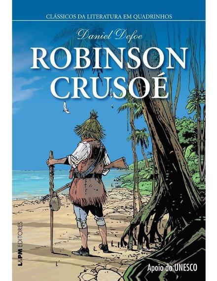 Clássicos Da Literatura Em Quadrinhos- Robinson Crusoé