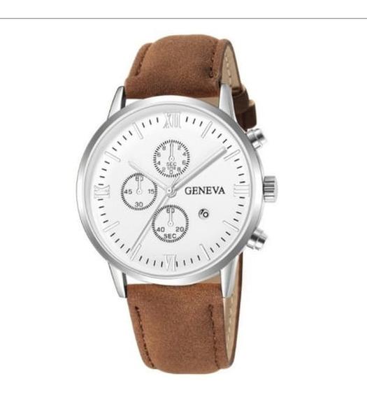 Relógio Geneva Moda Casual Pulseira De Couro