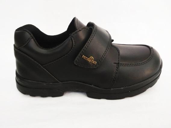 Zapatos Escolares Plumitas De Cuero 34 Al 39 Art.3875