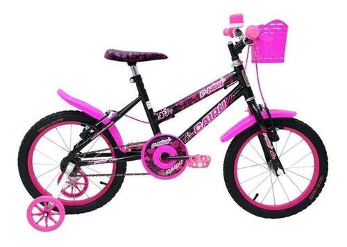 Imagem 1 de 3 de Bicicleta Cairu 16 Mtb Fem C-high Pto/pink