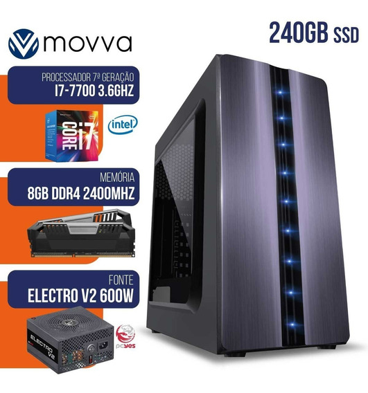 Computador Gamer Mvx7 Intel I7 7700 3.6ghz Mem. 8gb Ddr4 Ssd