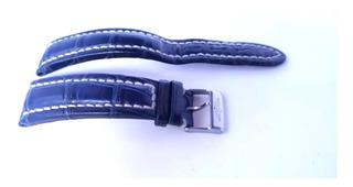 Pulseira Breitling Original Azul Royal 22mm Crocodilo