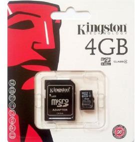 Memoria Micro Sd Kingston 4 Gb Com Adaptador - Original