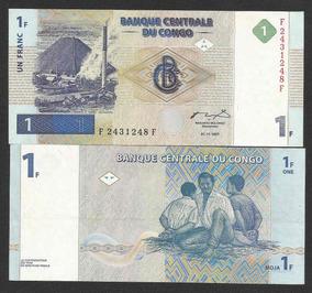 Congo (ex Zaire) 1 Franco 1997 P. 85 S/fe Cédula - Tchequito