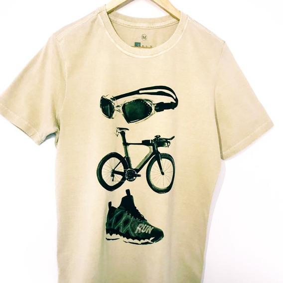 Tshirt Camisa Triathlon Ícones Salt
