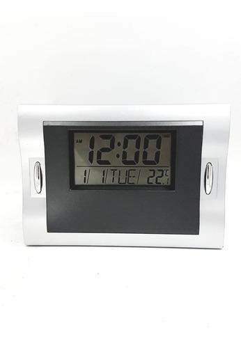 Relógio Digital De Parede E Mesa Marca Hora Temperatura + Alarme Funciona C 2 Pilhas, Possui Suporte Para Parede