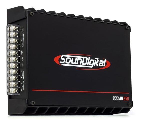 Módulo Amplificador Soundigital Sd800.4d 800 Rms 2ohms