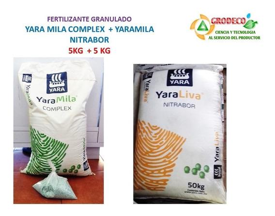 5 Kg Yaramila Complex + 5 Kg Nitrabor Fert Gran Citricos