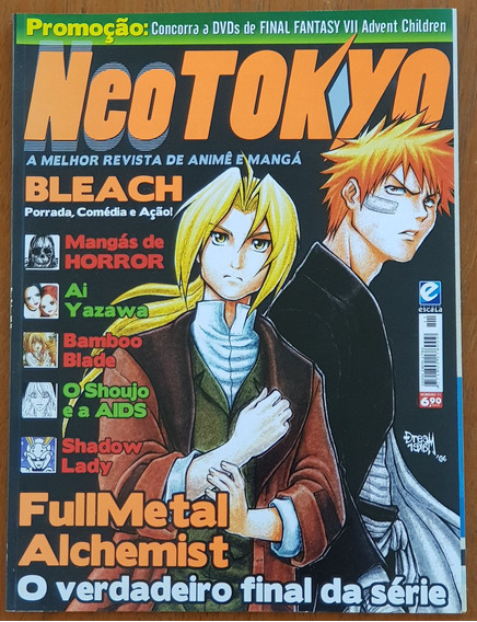 Revista Neo Tokyo Nº 11 Bleach Fullmetal Alchemist