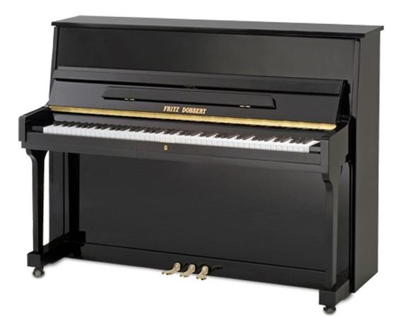 Piano Fritz Dobbert 115s Preto Acústico Vertical Armário