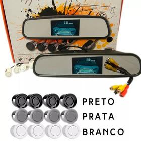 Kit Espelho Retrovisor Camera Ré Sensor Estacionamento Kx3
