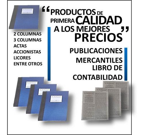 Libros Contabilidad (2 Y 3 Columnas,acta Y Accionistas) 5und