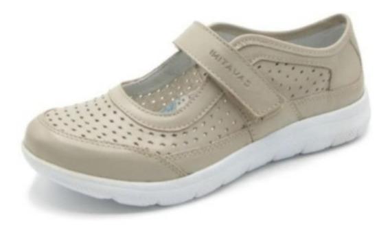 Mocasin Cuero Mujer Cavatini Zapato Zapatilla Abierta 41