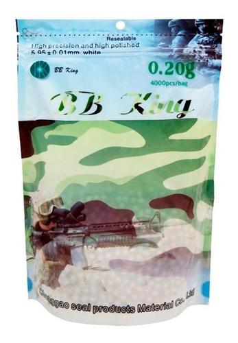 Bbs 6mm De Airsoft 0.20g Bb King 4000 Bbs