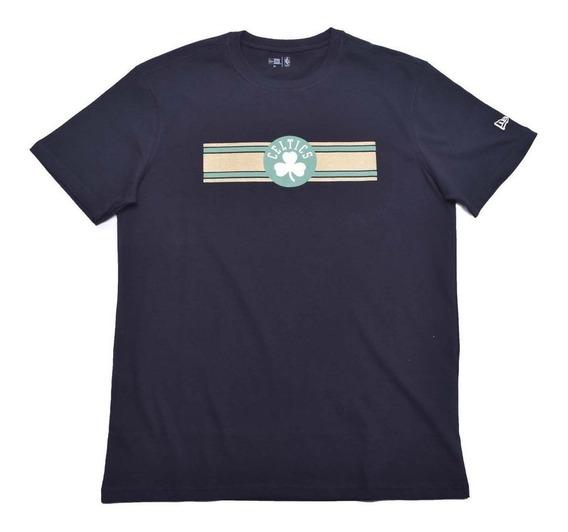 Camiseta Stripe Boston Celtics Nba New Era