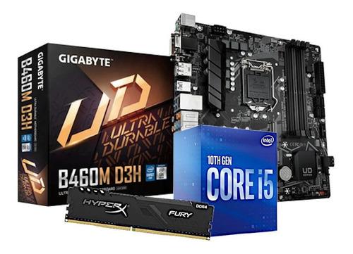Kit Processador Core I5 10400 Gigabyte B460m-d3h Hx 16 Gb