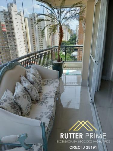 Imagem 1 de 15 de Lindo Apartamento Com 3 Suítes A Venda Em Moema - 1050