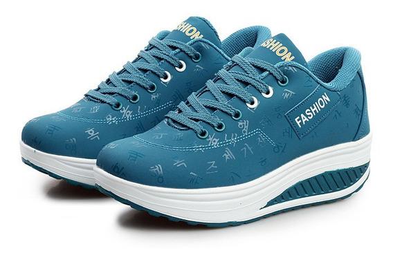 Mulheres Casual Plana Plataforma Sneakers Sapatos Respiráve
