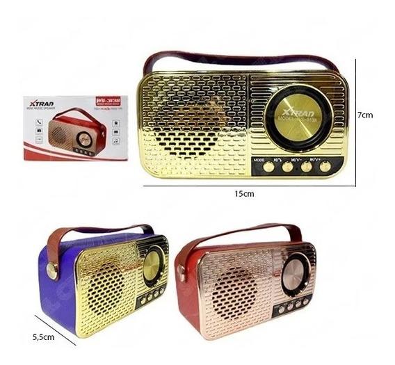 Radio Xtrad Retro Ws-3138 Mini Caixa De Som