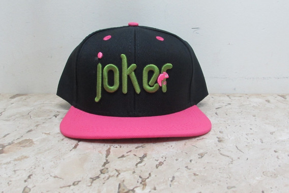 Boné Colors Joker - Preto Com Rosa