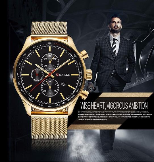 Relógio Curren Masculino Luxo Original 8227