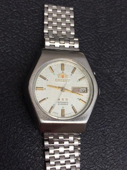 Relógio Orient Automático Branco Texturizado Funcionando