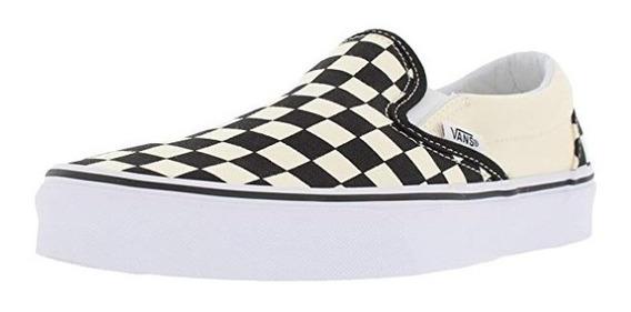 Tenis Vans Classic Slip On Blk&whtchckerboard/wht Vn000eyebw