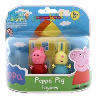 Peppa Pig 2 Muñecos Con Amigos Pedro Susi Candy Zoe Rebecca