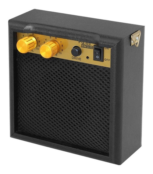 Portátil Mini Guitarra Amplificador Amp Alto-falante 5w Com