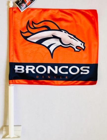 Bandera Para Auto Broncos De Denver, Producto Oficial Nfl