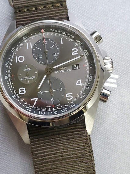 Relógio Glycine Combate Gl0099 Verde Cronografo Preço Final