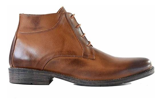Botita Cuero Briganti Zapato Hombre Vestir Goma Hcbo00835 01