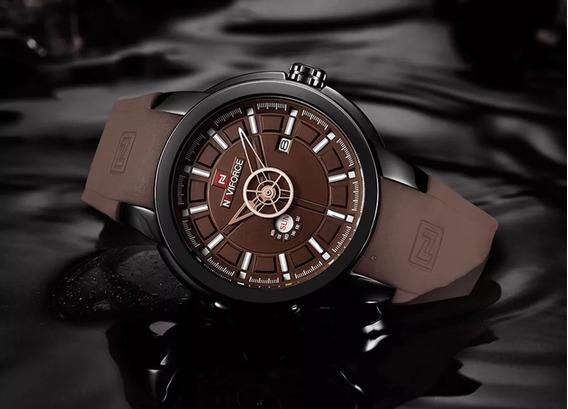 Relógio Masculino Sport Naviforce 9107 Pulseira Em Silicone