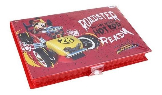 Maleta Caixa Estojo De Colorir Infantil 86 Pçs Mickey Disney