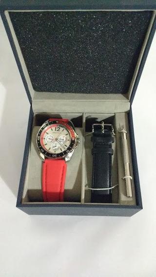 Relógio Nautica Sport Ring Box Set N09911g Com 2 Pulseiras