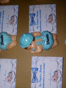 10 Lembrancinhas Bebê Bumbum Em Biscuit