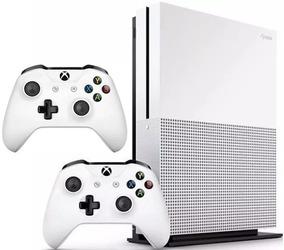 Console Xbox One S 1tb 4k Com 2 Controles Original Microsoft