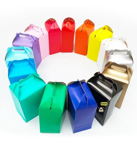 Imagen 1 de 5 de 30 Cajas Dulceras Colores Bolo Aguinaldo Arcoiris Color Liso