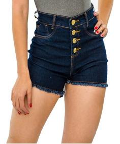 Kit 10 Short Jeans Feminino Bermuda Alta Top Barato Atacado