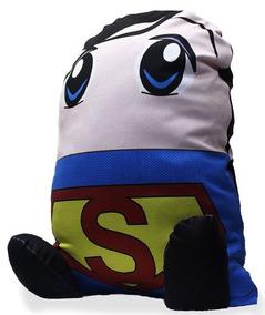 Almofada Personagem Geek Superman Super-homem Heroi Boneco