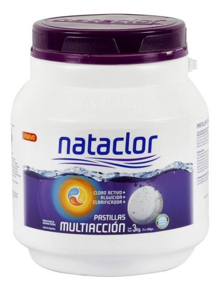Pastillas De Cloro Multiacción 200gr De 3kg Nataclor Rinde +