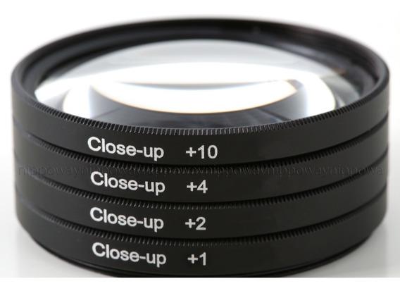 Kit 4 Filtros Close Up +1+2+4+10 Macro 58mm Canon Nikon