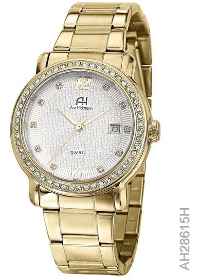 Relógio Ana Hickmann Dourado Ah28615h