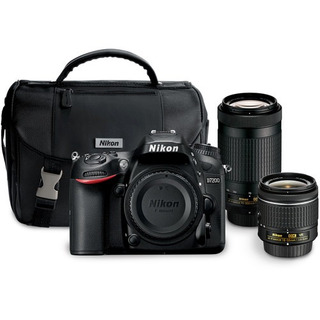 Cámara Nikon D7200 Con 18-55mm Y 70-300mm Lentes Kit