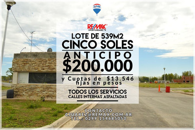 Equipo Remax Vende Lote En B° Privado Cinco Soles